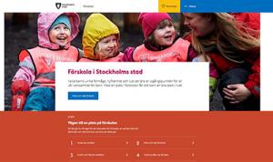 Skärmdump på startsida för ämnesingången förskola.
