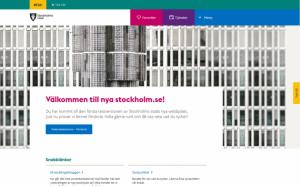 Startsida för betaversionen av nya stockholm.se.